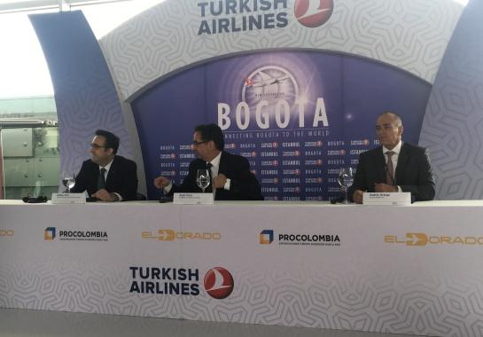 Turkish Airlines Colombia: Aterrizó el primer vuelo de Turkish Airlines en Colombia