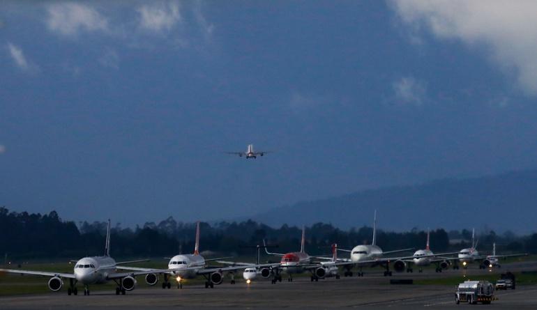 pasajeros aéreos: Más de 8 millones de pasajeros aéreos se han movilizado en Colombia durante primer trimestre
