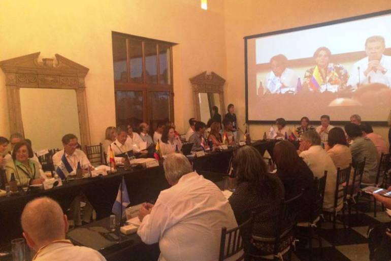 Santos resaltó el papel de la Cultura para alcanzar la paz: Santos resaltó el papel de la Cultura para alcanzar la paz