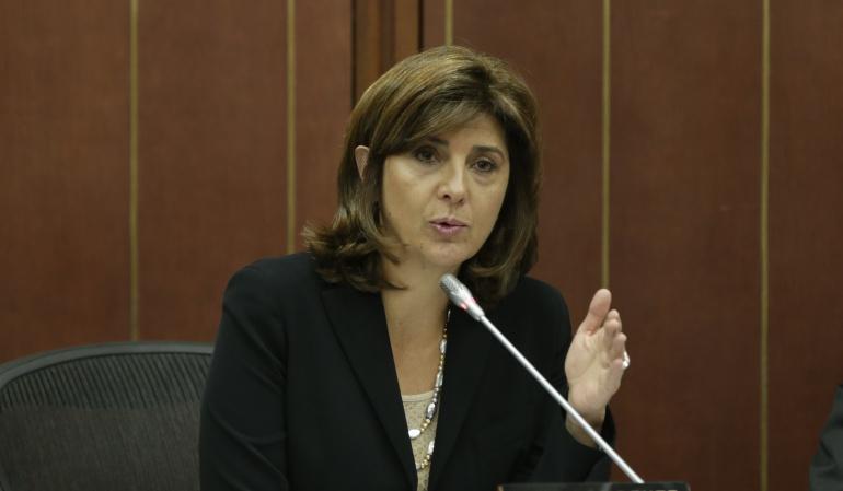 Canciller, María Ángela Holguín