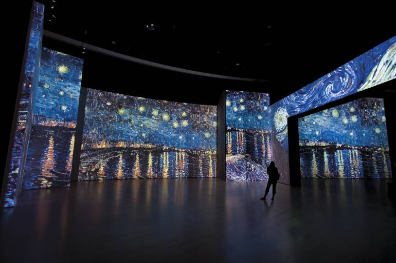 ¿Qué es la tecnología Sensory4 con la que se exhibe Van Gogh Alive?