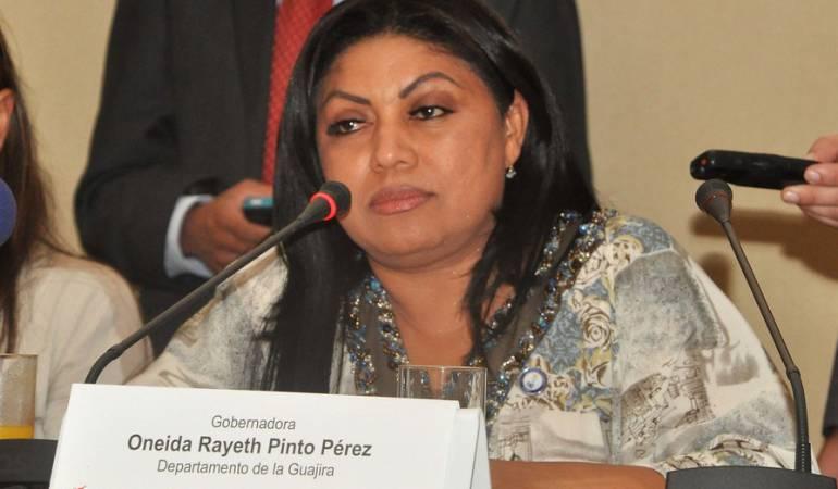 Foto de Oneida Pinto suministrada por la Federación Nacional de Departamentos.