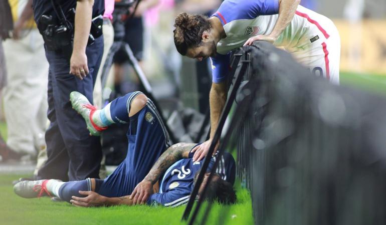 Lavezzi luxofractura Argentina Copa América: Lavezzi sufre una luxofractura en el codo y se pierde la final de la Copa América