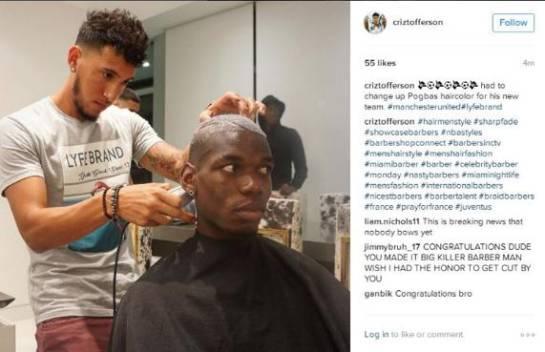 Publicación de peluquero de Pogba causa revuelo en redes sociales: Indiscreción de barbero de Pogba genera revuelo en redes sociales