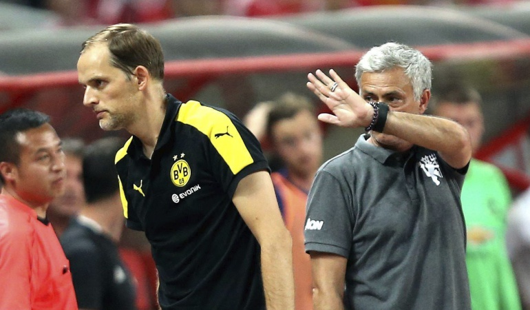 Murinho Manchester United 4-1 Borussia Dortmund: Mourinho cae goleado en su debut con el Manchester United