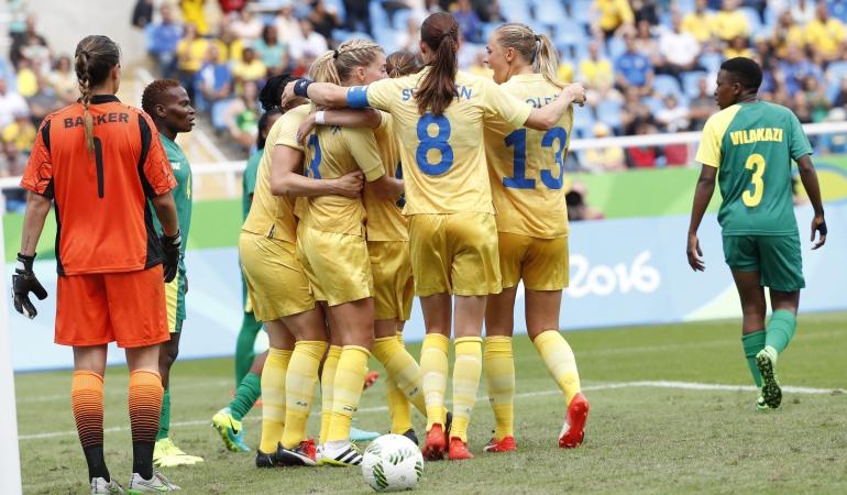Los Juegos Olímpicos empezaron con triunfo de Suecia ante Sudáfrica