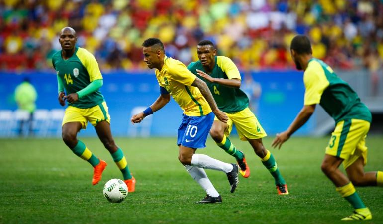 Brasil 0-0 Sudafrica Juegos Olímpicos Río de Janeiro: Opaco debut sin goles de Brasil y Neymar en los Juegos Olímpícos