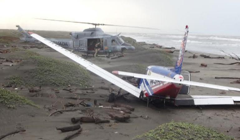 Emergencia en playa de Colombia: La avioneta que aterrizó de emergencia en una playa colombiana