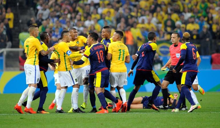 Brasil - Colombia, cuartos de final Juegos Olímpics: Colombia se despidió con derrota ante Brasil de los Juegos Olímpicos