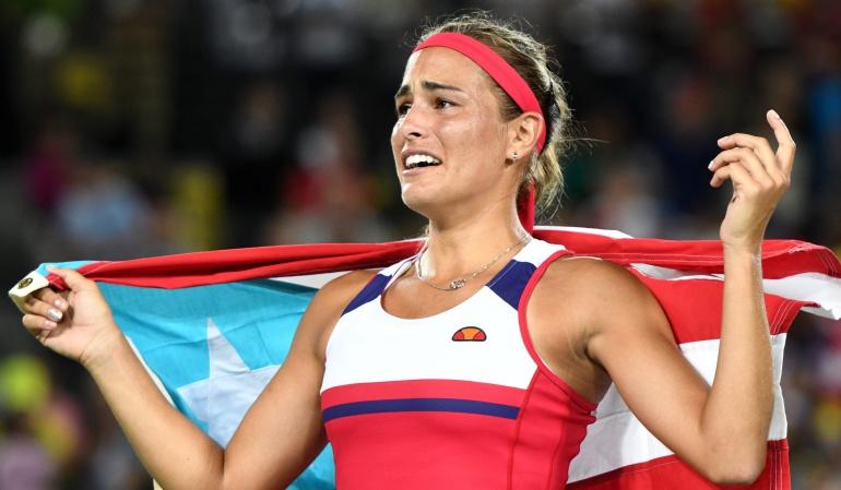 Monica Puig Oro para Puerto Rico tenis: Mónica Puig alcanzó la primera medalla de oro en la historia de Puerto Rico