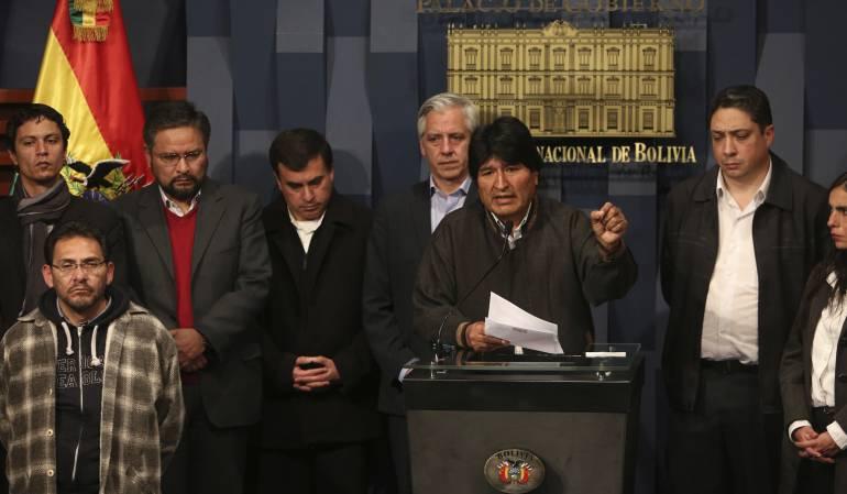 """Evo Morales, golpe de Estado: Evo Morales afirma que derrotó otra vez un """"golpe de Estado"""""""
