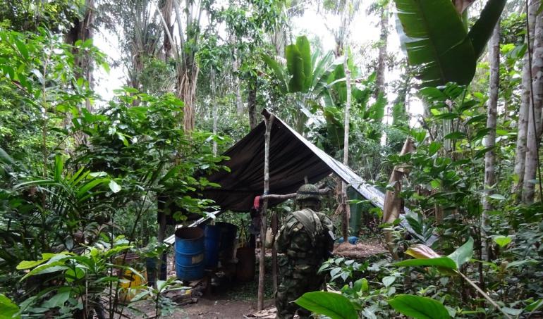 Destruyen gigantesco laboratorio para la fabricación de cocaína en Caquetá