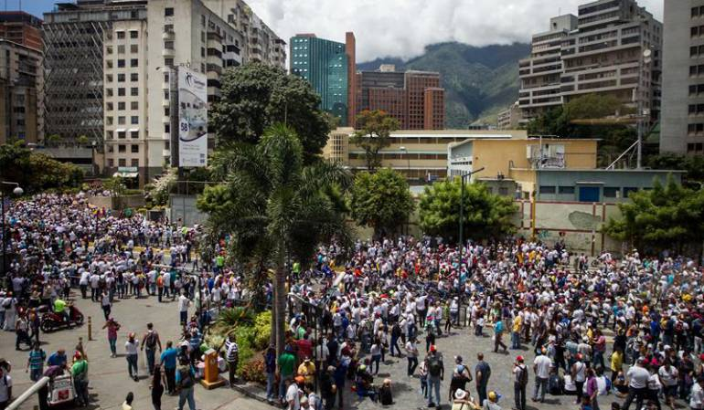 Marcha opositores revocatorio Maduro: Oposición venezolana dice más de 1.100.000 personas marcharon por revocatorio