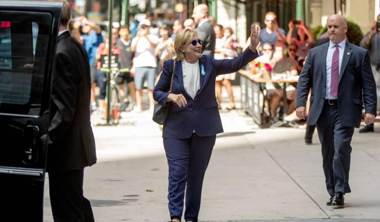 Diagnostican a Hillary Clinton con neumonía tras el vahído sufrido en N. York