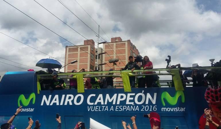 Rinden homenaje a Quintana, campeón de Vuelta a España