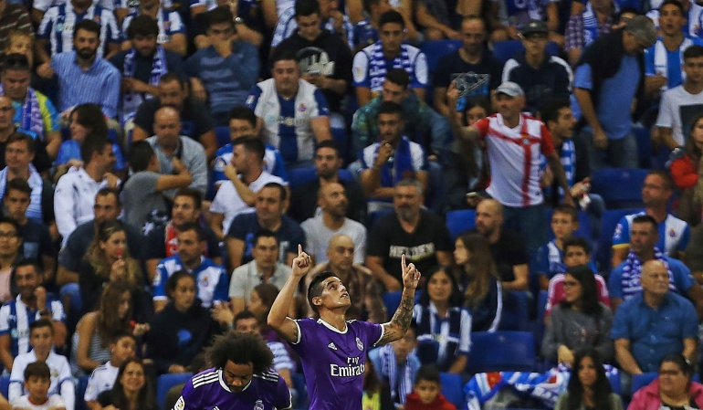 James Rodríguez: James anota en el triunfo de Real Madrid ante Espanyol