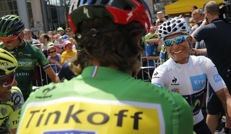 Peter Sagan quita primer lugar Ranking World Tour de la UCI Nairo Quintana: Sagan le arrebata el primer lugar del Ranking World Tour de la UCI a Nairo