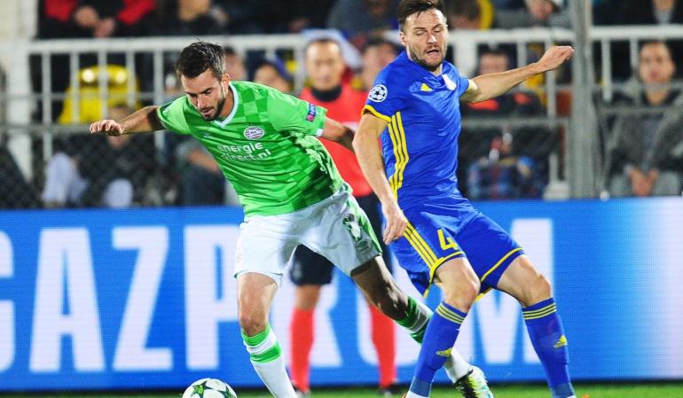 Santiago Arias Rostov 2-2 PSV: Con Santiago Arias en cancha, el PSV empata 2-2 ante el Rostov en Champions