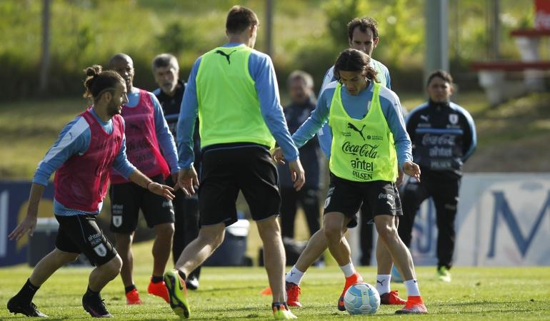 Uruguay llega a Barranquilla: Con Suárez y Cavani, Uruguay se instala en Barranquilla