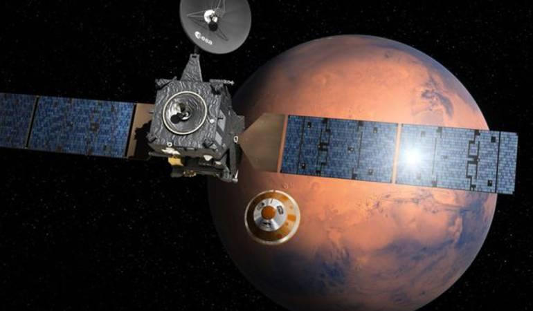 """Sonda Schiaparelli: """"Se estrelló a gran velocidad"""": el aparente trágico final en Marte de la sonda Schiaparelli"""