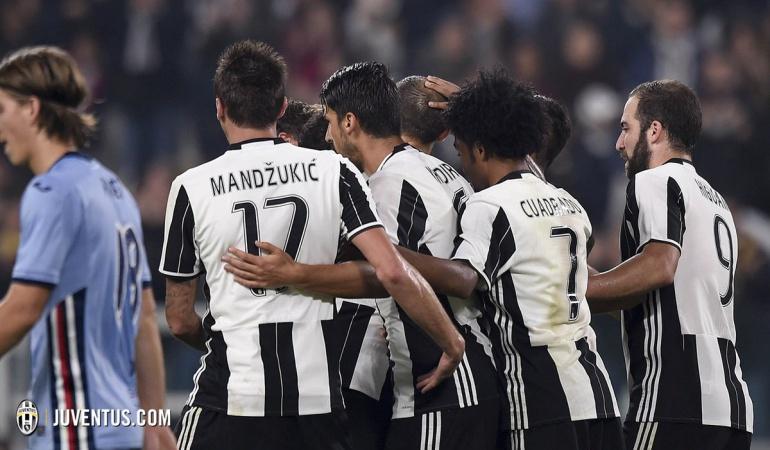 Cuadrado Muriel Sampdoria Juventus Copa Italia: Cuadrado jugó todo el partido y Muriel sumó minutos en goleada de Juventus a Sampdoria