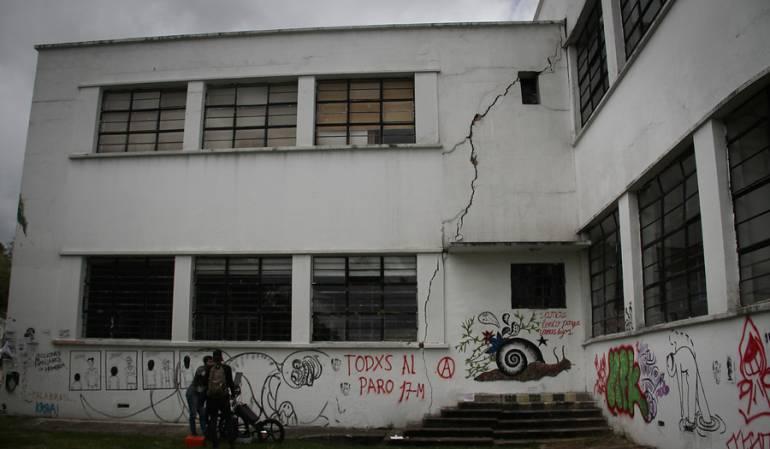 El edificio de Bellas Artes de la Universidad Nacional está en riesgo de colapso por fallas en su infraestructura.