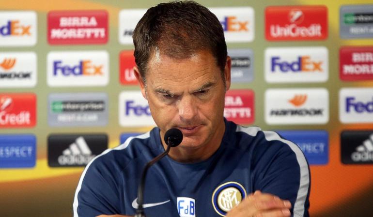 Inter destituye Frank de Boer: El Inter destituye al técnico Frank De Boer