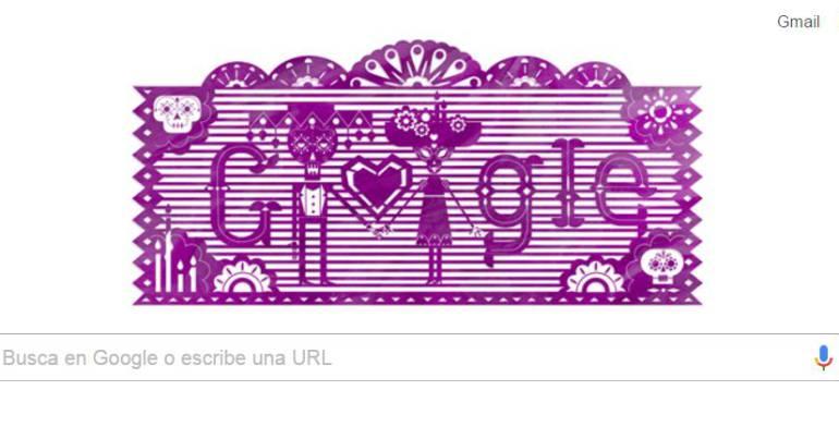 """Doodles Día de Muertos, Google: Google dedica su """"doodle"""" al tradicional Día de Muertos en México"""