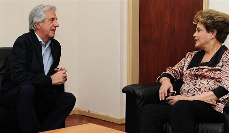 Dilma Rousseff en Uruguay: Presidente de Uruguay recibe a la exmandataria brasileña Dilma Rousseff