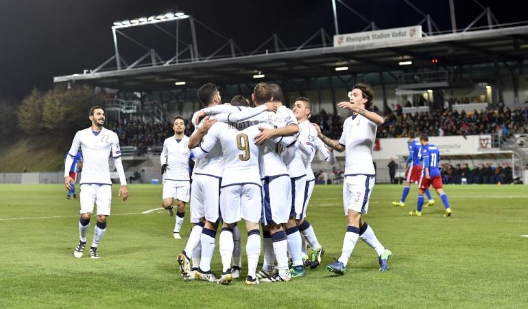 Italia 4-0 Liechtenstein: Italia golea en Liechtenstein y no le pierde pisada a España