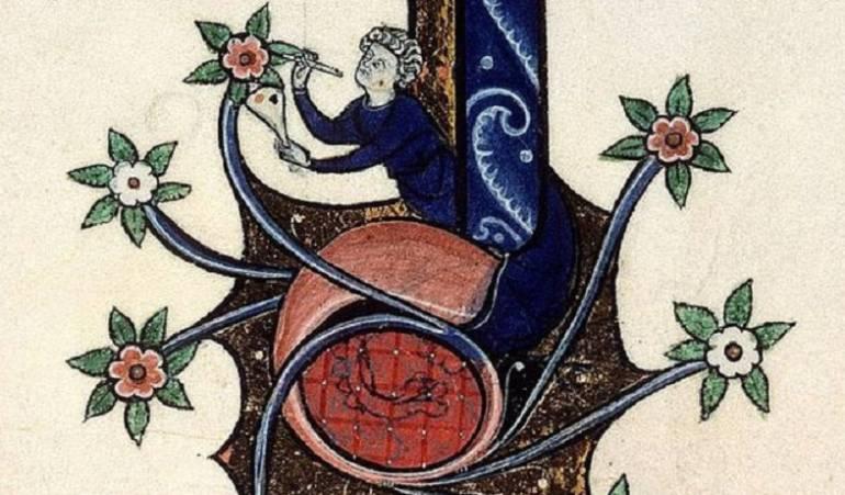 El maravilloso mundo de margenlandia, como le llama el historiador Damien Kempf, un ilustrador aparece ilustrando la ilustración.