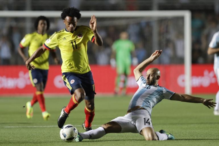 Colombia Argentina en vivo: Argentina 3 Colombia 0