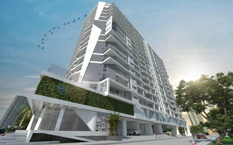 Cerca a la playa y a la Marina Internacional se construye el edificio Cristal