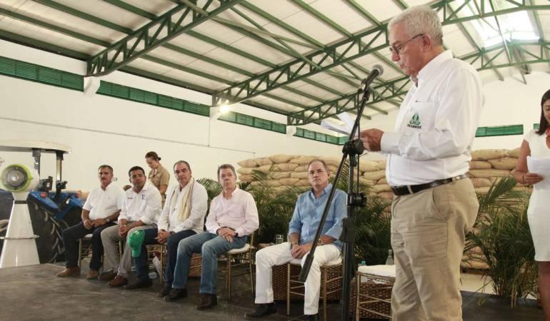 Presidente Santos inauguró planta para procesar arroz en el Cesar