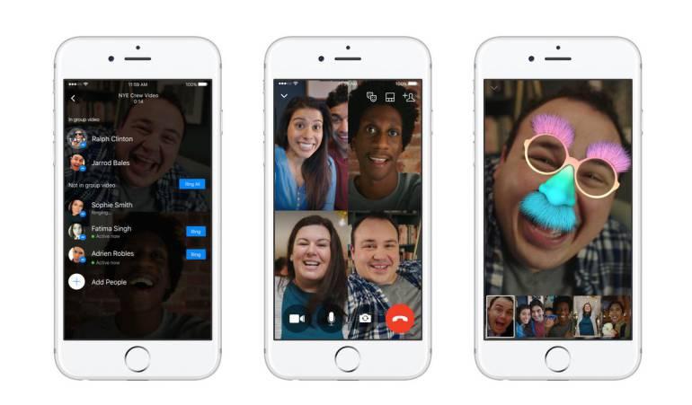 Videollamadas de Facebook Messenger: Nuevo soporte de videollamadas de Facebook Messenger grupales