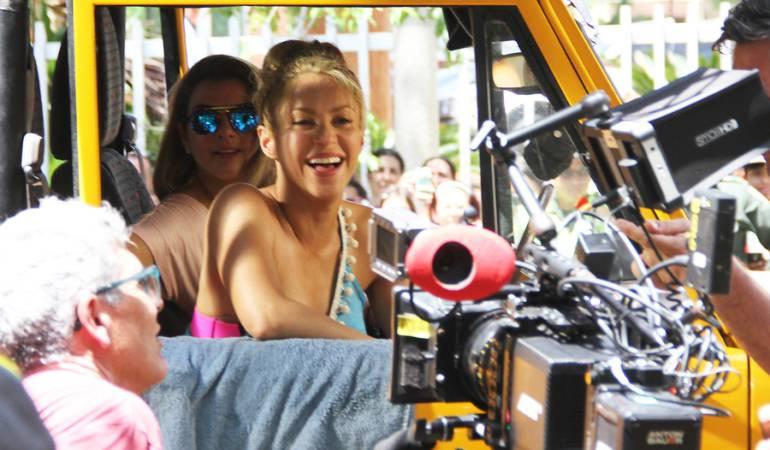 Grabación del video de La Bicicleta, canción de Shakira y Carlos Vives.