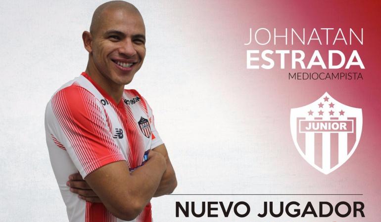 Jonathan Estrada refuerzo Junior: Jonathan Estrada, otro jugador procedente de Millonarios que refuerza al Junior