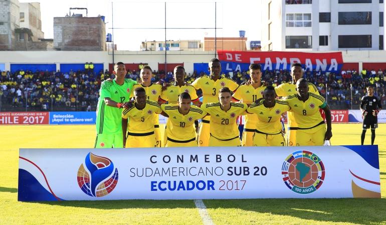 Colombia Paraguay Sudamericano Sub 20: Colombia rescata un punto en su debut en el Sudamericano Sub-20