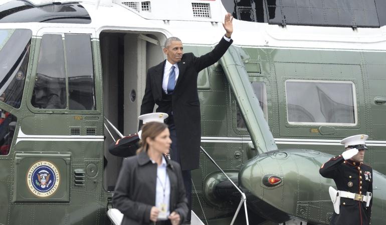 """TRUMP INVESTIDURA: Obama agradece a seguidores y personal por demostrar """"poder de la esperanza"""""""