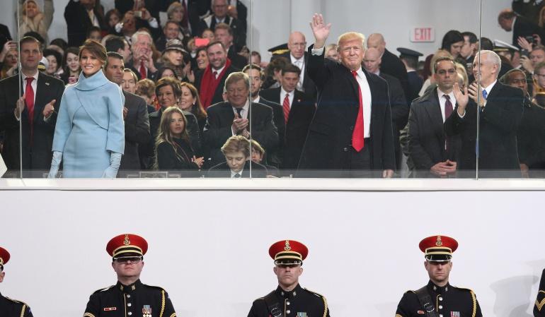 TRUMP DISCURSO: Trump ofrece una visión oscura del país en un atípico discurso de investidura