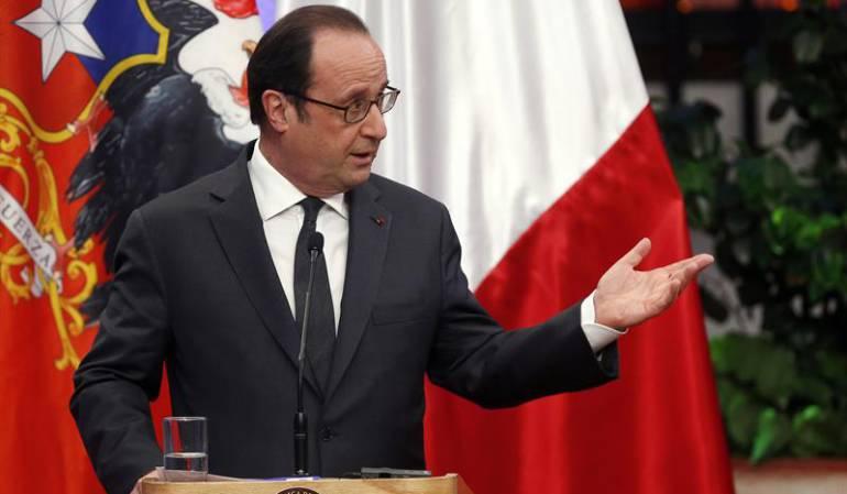 Acuerdo cambios climáticos: Hollande defiende acuerdo contra cambio climático y las reformas de Bachelet