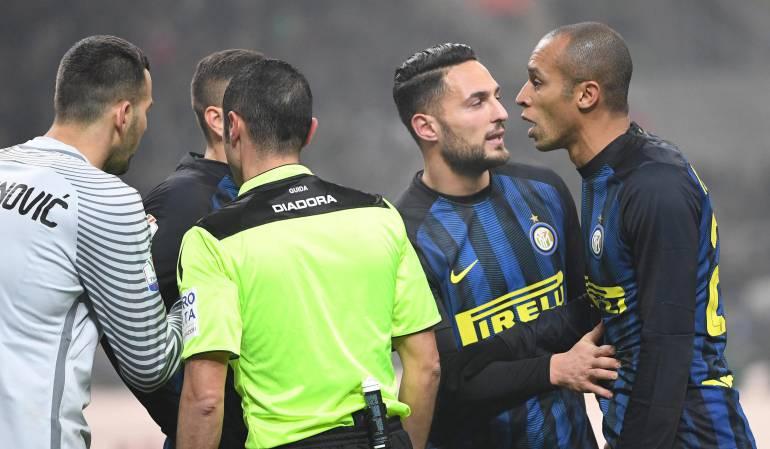 Inter Copa Italia Jeison Murillo: Con Jeison Murillo en cancha, Inter cae eliminado ante la Lazio en Copa Italia