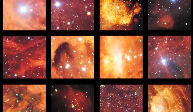 Foto nebulosa: Nebulosas zarpa de gato y langosta, en una foto de 2.000 millones de píxeles