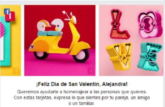 Día de San Valentín: Facebook celebra el Día de San Valentín