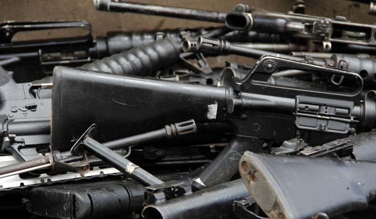 Armas decomisadas a las Farc
