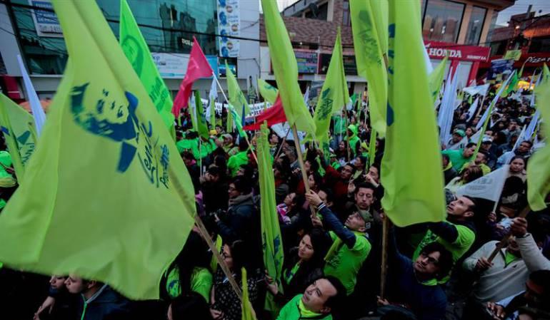Cierre de campaña presidencial en Ecuador