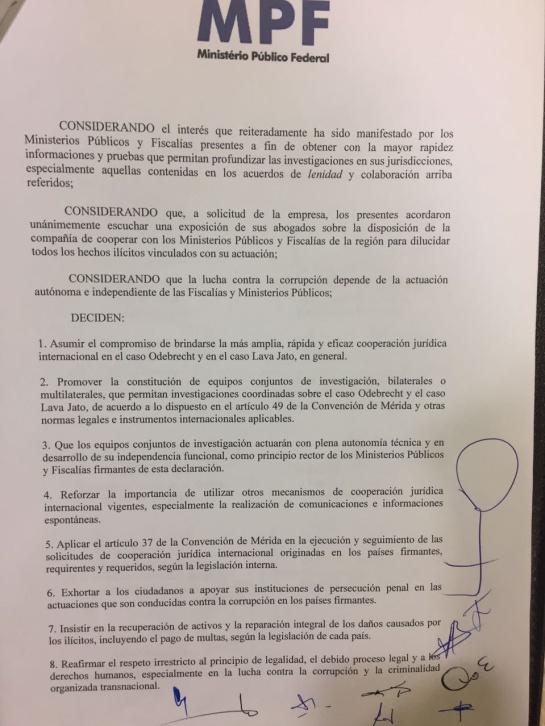 Sobornos Odebrecht: Terminó cumbre de fiscales en caso Odebrecht en Brasil
