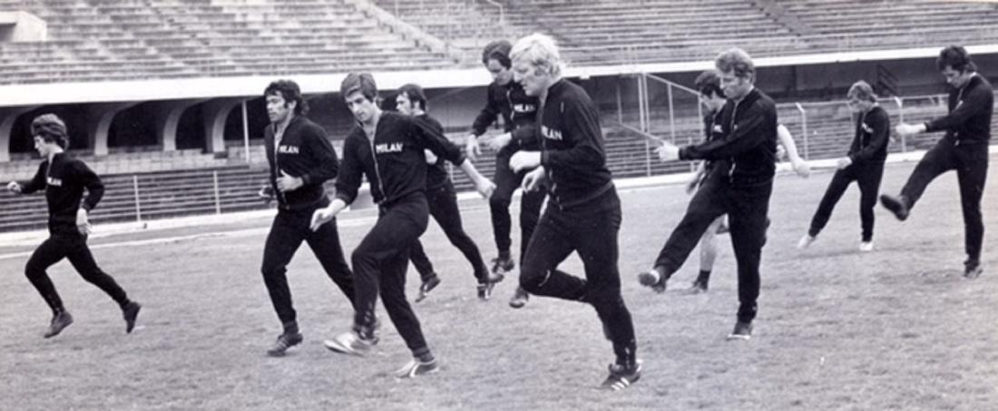 Milan entrena en Bogotá: El Milan se entrena en Bogotá en 1971