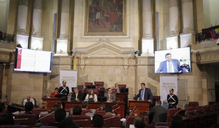 Salón Boyacá del Congreso de la República.