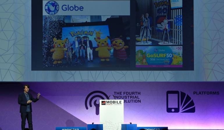 """El creador de """"Pokémon Go"""", John Hanke durante una conferencia en el Mobile World Congress en Barcelona."""